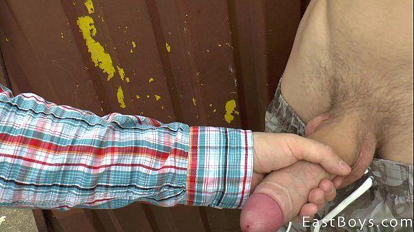 Czech Boy with Huge Cock Gets Outdoor HandjobHD