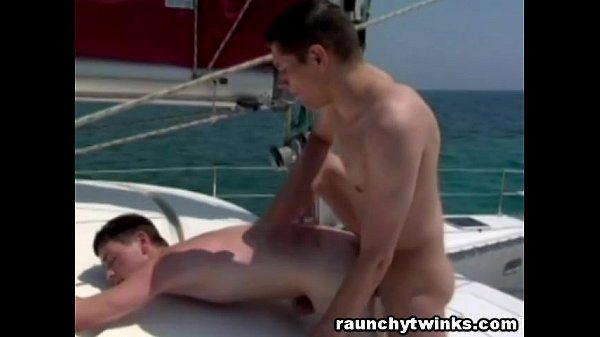 Gay Lovers Romantic Sailing Turns To Hard Fucking
