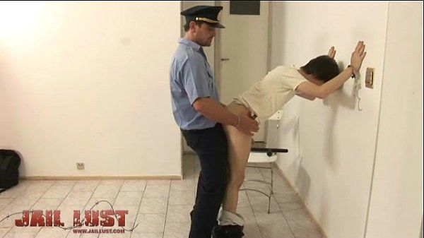 Arrested twink cutie gets ass crammed by a gay cop