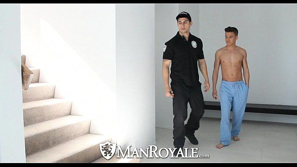 HDManRoyale Super hot twink get fucked by the security guardHD