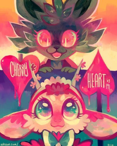 Cherry Heart by Purplekecleon