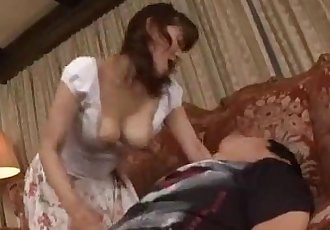 Milf Giving Blowjob For Young Guy Cum To Mouth Spitting Semen To Palm On The Car - 7 min