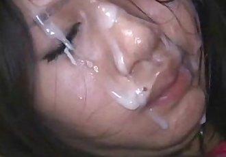 Cute asian Schoolgirls Cumshots Facial in uniforms - 2 min