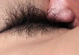 Hitomi Ikeno in fishnets has hairy slit fucked hard - 10 min