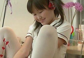 Petite Asian Orgasming Before School - 5 min HD