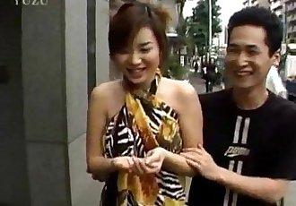 Japanese milf sucks cock outdoor till gets cum - 10 min