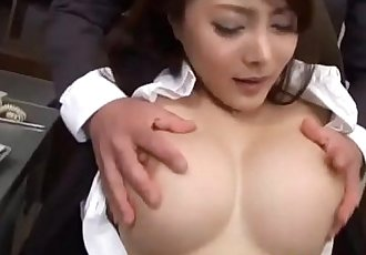 Mei Sawai with big tits is fucked in beaver - 10 min