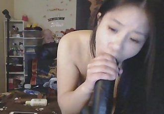 Nasty asian chick hardcore deepthroat - 10 min