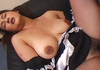 Tempting Japanese maid takes in a hard cock - 12 min