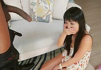 Shy Asian Amazed at Black Cock - 5 min HD