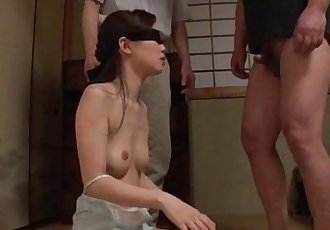 Misaki Yoshimura throats cock with her eyes covered - 12 min