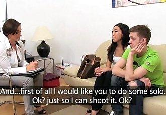 FemaleAgent Hot Asian pleasures MILF then fucks boyfriend - 11 min