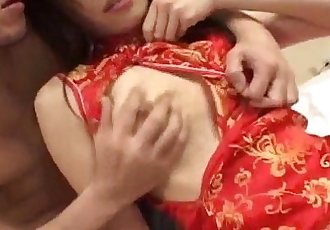 Ayane Sakurada in red lace has cunt licked - 10 min