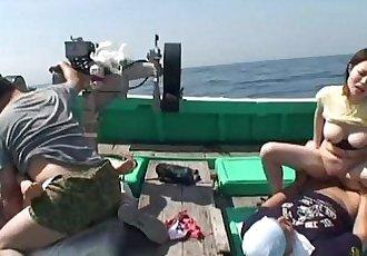 Asian sluts getting fucked on a fishing boat - 49 sec