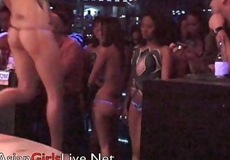 Asian Girls Body Painting Filipina GOGO Bar Strippers Show - 6 min