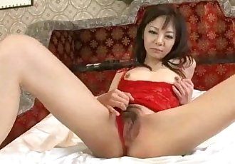 Extreme solo with milf in lingerie Hikaru Aoyama - 12 min