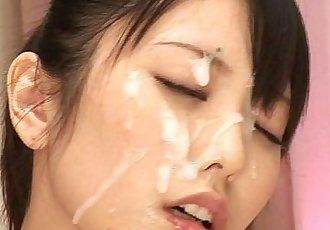 Japanese girls bukkake facial blowjob cumshot compilation / japanfunnymedia.com - 9 min