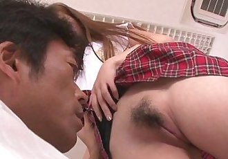 Horny asian schoolgirl blowjob and fucking - 8 min