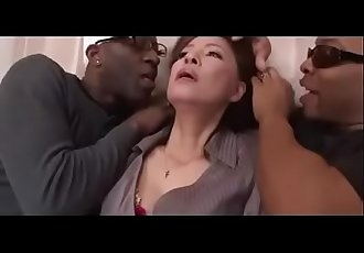 Japanese mature black gangbang abuse 58 min