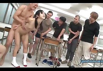 Jav Idol Suzu Ichinose Ambushed In School Gangbang With Creampie Rough Sex Outrageous Scene 15 min 720p