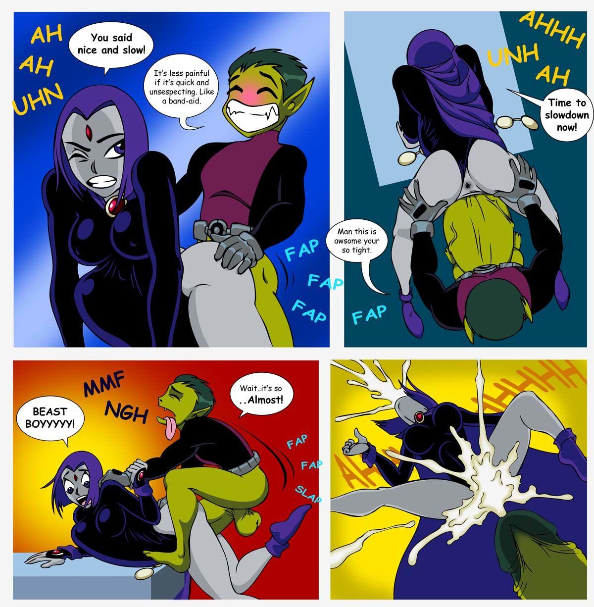 selrock Raven x Beast Boy (Teen Titans)