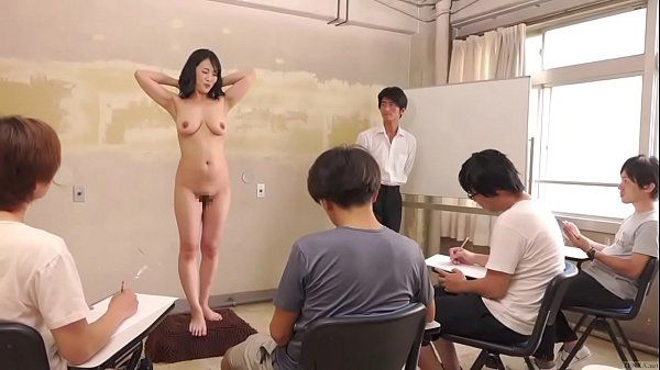Subtitled CMNF ENF shy Japanese milf nude art class in HD HD