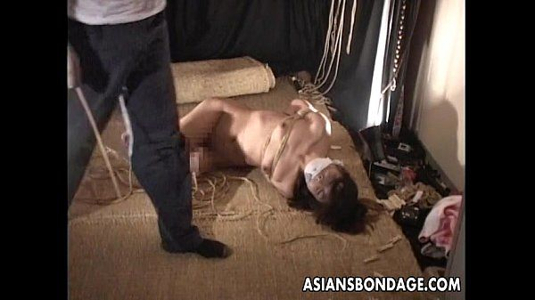 Asian bitch gets a bondage session to its full extent