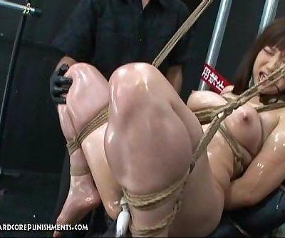 Intense Japanese Device Suspension Bondage Sex - 5 min