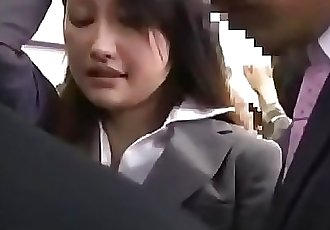Asian OL was embarrassed on the busPt2 On HDMilfCam.com 12 min