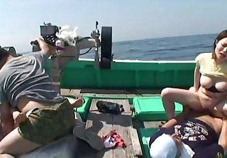 Asian sluts getting fucked on a fishing boat - 49 sec