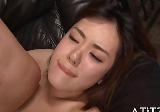 Juicy blowjob from breasty japanese - 5 min