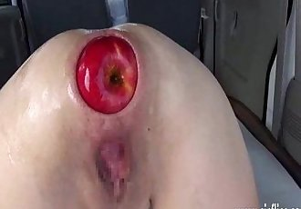 Extreme anal fisting and XXL apple insertions - 6 min