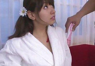 Busty teen Buruma Aoi fucked with a japanese vibrator - 8 min