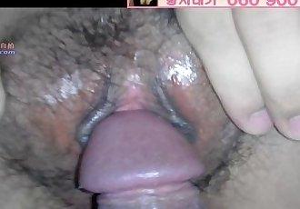 teasing tight korean pussy - 2 min