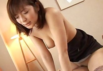 Wild Asian hottie blowjob and hardcore sex - 6 min
