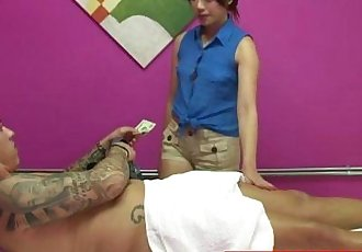 Real asian masseuse pampering customer - 8 min HD