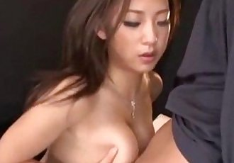 Big tits Asian Pornstar Satomi Suzuki uncensored awesome titjobs - 18 min