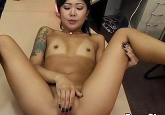 Cute Asian Teen Is Desperate for a Buck - 7 min HD