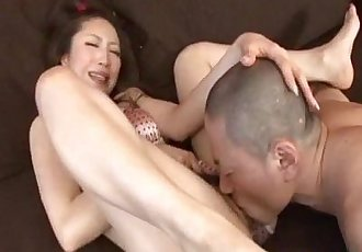 Koyuki Hara hot Asian milf is pussy licked before giving deepthroat blowjob - 10 min