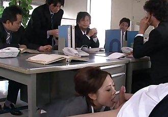Yoshida getting drilled down about her presentation - 1 min 10 sec