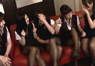 Boss has a horde of babes who pleasure him - 59 sec