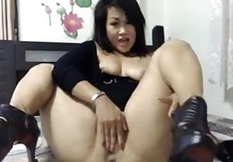 Thick Asian Squirt and Anal Play - 11 min