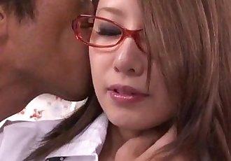 Mariru Amamiya pleases her needs with a good school fuck - 8 min