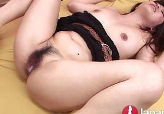 Japanese Milf double creampied hairy pussy - 11 min