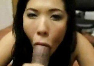 Asian gets BBC cumshot & swallows like a good slave - 1 min 14 sec