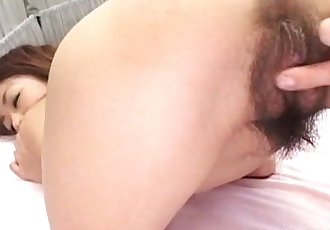 Asian hairy wet pussy wide spread in close-up - 5 min