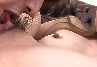 Asian milf gets a threesome with two asian studs - 6 min