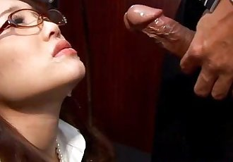 Asian babe secretary deepthroating cock - 6 min