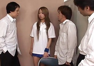 Asian wide nose slut getting gang banged by the fellas - 1 min 6 sec