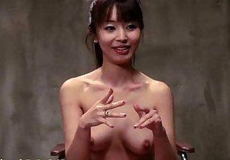 Brunette Asian nurse in hogtied - 5 min